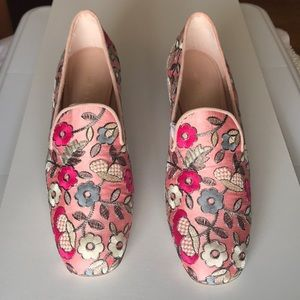 Stuart Weitzman Rose Blossom Embroidery Shoes 8M